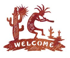 Kokopelli welcome sign Mexican Style Decor, Metal Welcome Sign, Laser Art, Santa Fe Style, Welding Art, Book Quilt, Quilted Wall Hangings, Pottery Designs, Native American Art