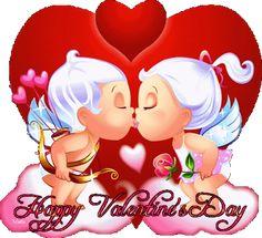 Frases, chistes, anécdotas, reflexiones, Amor y mucho más.: Happy Valentine´s Day, angelitos enamorados