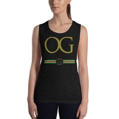 Fake Gucci - Parody OG Original Gangster - Ladies Muscle Tank #cuggi #OG