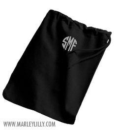 Monogrammed Shoe Bag