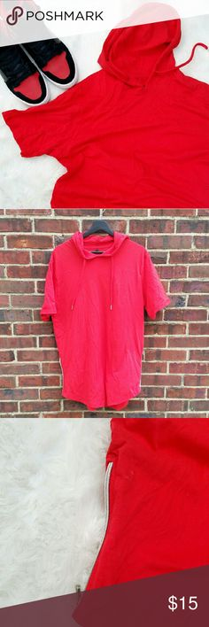 Selling this ⬇⬇Men🌟Red Hoodie with Zipper on the sides on Poshmark! My username is: kaderique. #shopmycloset #poshmark #fashion #shopping #style #forsale #Other