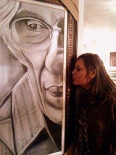 Poeta Ferreira Gullar  Oleo sobre tela by : Sandra Cajado