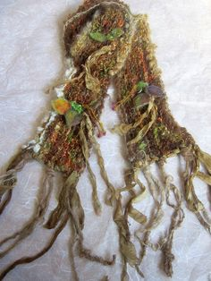 knit scarf rustic soft handknit scarf from the by beautifulplace, $58.00