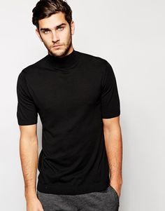 ASOS+Knitted+T-Shirt+with+Turtle+Neck