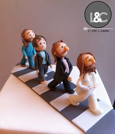 The Beatles Cake Beatles Cake, Beatles Birthday, Beatles Party, 50th Birthday, The Beatles, Birthday Ideas, Abbey Road, Disco Party, The Fab Four