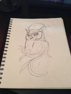 Owl tattoo design #tattoo #sketch