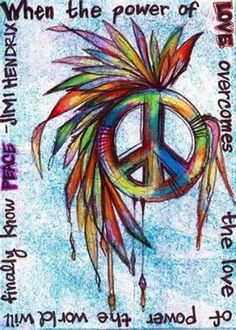 This is an example of unity. This represents peace and the colors of the photo bring peace. The feathers go along well with the peace sign.