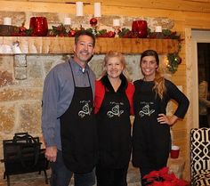 Brett and Rae Priestley with daughter McKenzie - 3 P's in a Vine