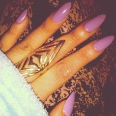 Long lavender nails