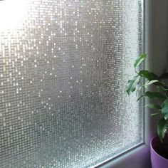 Amazon.com   Fancy Fix Cut Glass Mini Mosaic Decorative Window Film 17.7 In