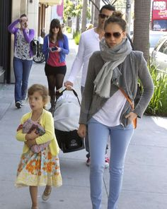 Jessica Alba and Cash Warren Family on Easter Pictures
