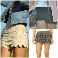 HAIR by victoria: fashion trend: super simple DIY lace shorts
