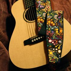 Guitar Strap, vegan, Galactic pattern-music-gifts for musicians-handmade-canvas-unique gifts-gifts for boyfriends-gifts for girlfriends-cool