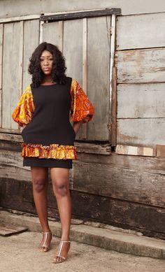 Nkay Shift Dress Remilekun - African Styles for Ladies Short African Dresses, Ankara Short Gown Styles, Trendy Ankara Styles, Latest African Fashion Dresses, African Print Dresses, African Print Fashion, Africa Fashion, African Prints, Dress Styles