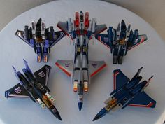 Transformers G1 Skywarp, Starscream and Thundercracker