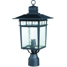 Y-Decor Cullen Oil Rubbed Bronze Exterior Lamp Post Light with Clear Water Glass