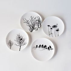 Naturescape Bone China Plates - Set of 4 | dotandbo.com