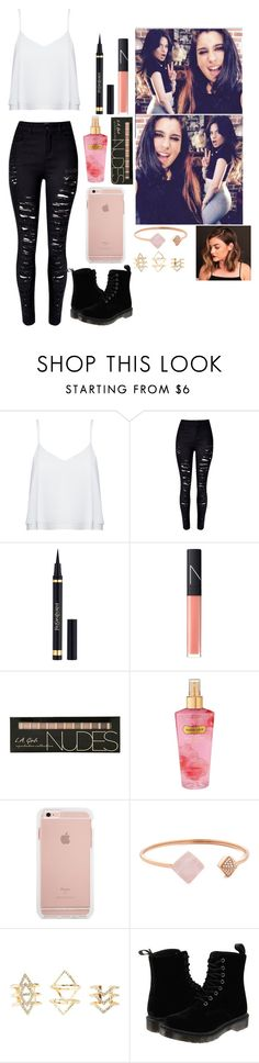 """""""Hey!"""" by xxcamrenxx ❤ liked on Polyvore featuring Alice + Olivia, WithChic, Yves Saint Laurent, NARS Cosmetics, Victoria's Secret, Michael Kors, Charlotte Russe and Dr. Martens"""