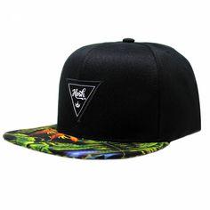Boné Aba Reta Snapback Hosh Wear Black Floral