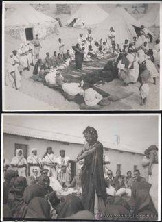 6 FOTOGRAFÍAS CON ACTOS PARA PROCLAMAR LA 2ª REPUBLICA EN CABO JUBY-AÑO 1931 - Foto 1