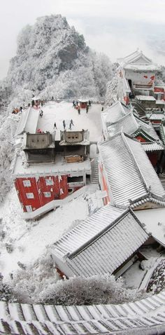 Ancient Building Complex at Wudang Mountains in  China UNESCO World Heritage site