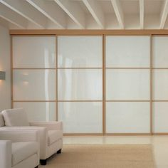 Glass partition wall / door Sliding door Unika Collection by ADIELLE