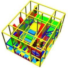 """Детский игровой лабиринт """"Парк"""". Размеры 5х4х2.7"""