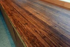 Bambusgulv og møbelplater i flotte kombinasjoner // Bamboo flooring and panels throughout the house Butcher Block Cutting Board, Bamboo, Flooring, House, Wood Flooring, Haus, Floor, Home, Homes