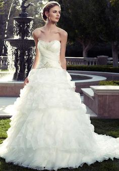 Casablanca Bridal 2078 A-Line Wedding Dress