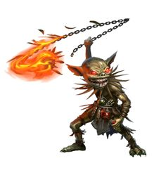 male goblin fighter with fire whip Fantasy Concept Art, Fantasy Character Design, Fantasy Artwork, Character Art, Dungeons And Dragons Characters, Dnd Characters, Fantasy Characters, High Fantasy, Medieval Fantasy