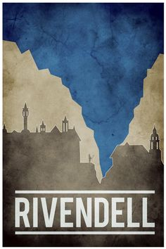 Rivendell poster by artist Nicholas Hyde.