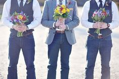 great casual groom look for an outdoor barn wedding