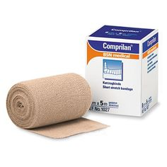 Comprilan Short Stretch Bandage -   Sizes: 6cm x 5m 8cm x 5m 10cm x 5m 12cm x 5m. Comprilan is a short stretch compression bandage made from 100% cotton and is specifically designed for the management of venous leg ulcers lymphadema and edema. Unlike long stretch bandages. Comprilan provides both compression and high resistance to stretch to increase venous and lymphatic return. Interlocking weave provides short stretch to ensure consistent compression.