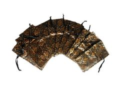 12 Jewelry Damask Organza Drawstring Pouch Bags by picostore, $3.00