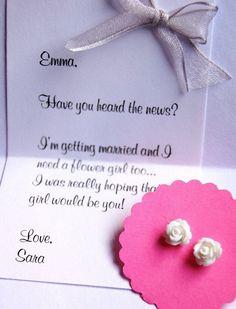 Tiny Flower Girl Earrings, Girls Jewelry Gift set, Rosebud earrings, stud earrings, will you be my flower