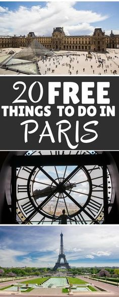 Paris can be expensive - but it doesn't have to be! Click to find out the Top 20 Free Things To Do in Paris and give your wallet a break on your next visit to the City of Light ************************************************************************************************** Free Things To Do in Paris   Things To Do in Paris   Free Paris   Paris on a Budget