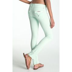 love these hudson mint jeans