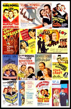 Myrna Loy and William Powell 14 films