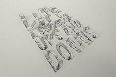 Tipografía 3D de Lex Wilson