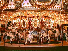 Ride ride the carosel and reach for the golden ring,never to finish but begin again fro life is a circular thing