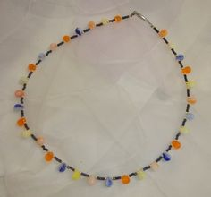 """""""Tanz der Farben"""" Tassel Necklace, Tassels, Jewelry, Neck Chain, Beads, Jewlery, Bijoux, Schmuck, Tassel"""