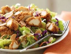 Unhealthy foods Applebee's Oriental Chicken Salad    Applebee's Oriental Chicken Salad packs a punch with 1380 calories and 99 grams of fat (15 grams of that is saturated—yuck). (Photo courtesy of Applebee's)