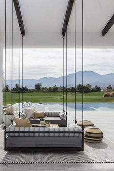 40 best patio ideas for 2019 - stylish outdoor patio design ideas Indoor Outdoor Living, Outdoor Spaces, Outdoor Seating, Outdoor Pool, Outdoor Ideas, Exterior Design, Interior And Exterior, Patio Interior, Patio Grande