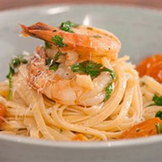 Try this Linguini with Prawns, Chilli and Garlic recipe by Chef Justine Schofield . This recipe is from the show Everyday Gourmet.