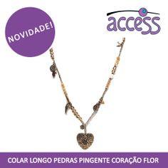 colar, neckclace, moda, acessorios, moda, coração, ouro velho