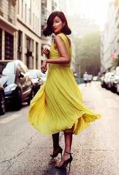 Yellow Swing Dresses