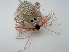 Mouse made of beads & copper wire, instructions