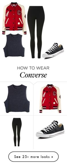 """""""Popular"""" by lenajfam on Polyvore featuring Coach, Topshop and Converse"""
