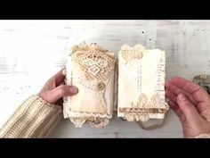 Handmade Junk Journal Filled With Vintage Laces And Ephemera - YouTube Fabric Journals, Journal Paper, Junk Journal, Art Journals, Vintage Journals, Journal Art, Journal Notebook, Fabric Art, Fabric Books