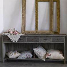 frames and credenza